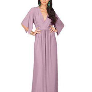 KOH KOH Womens Kaftan Short Sleeve Empire Dress